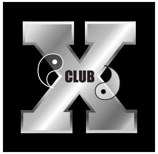 福岡天神の親不孝通りにあるクラブXのロゴ