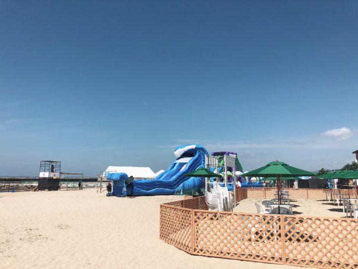 福岡地行浜のビーチ