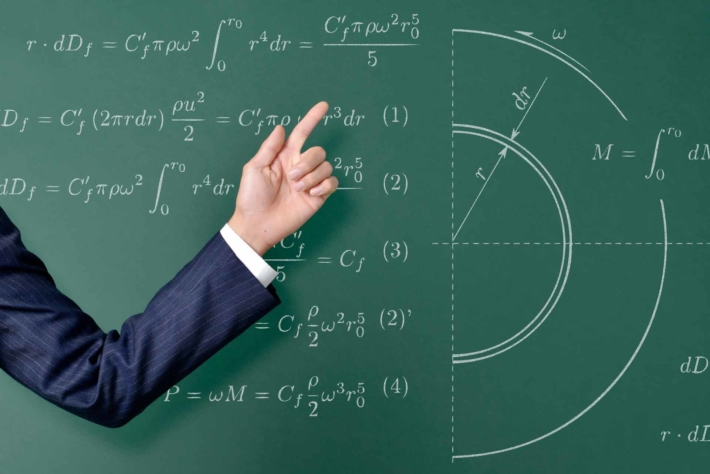 黒板に書かれた方程式