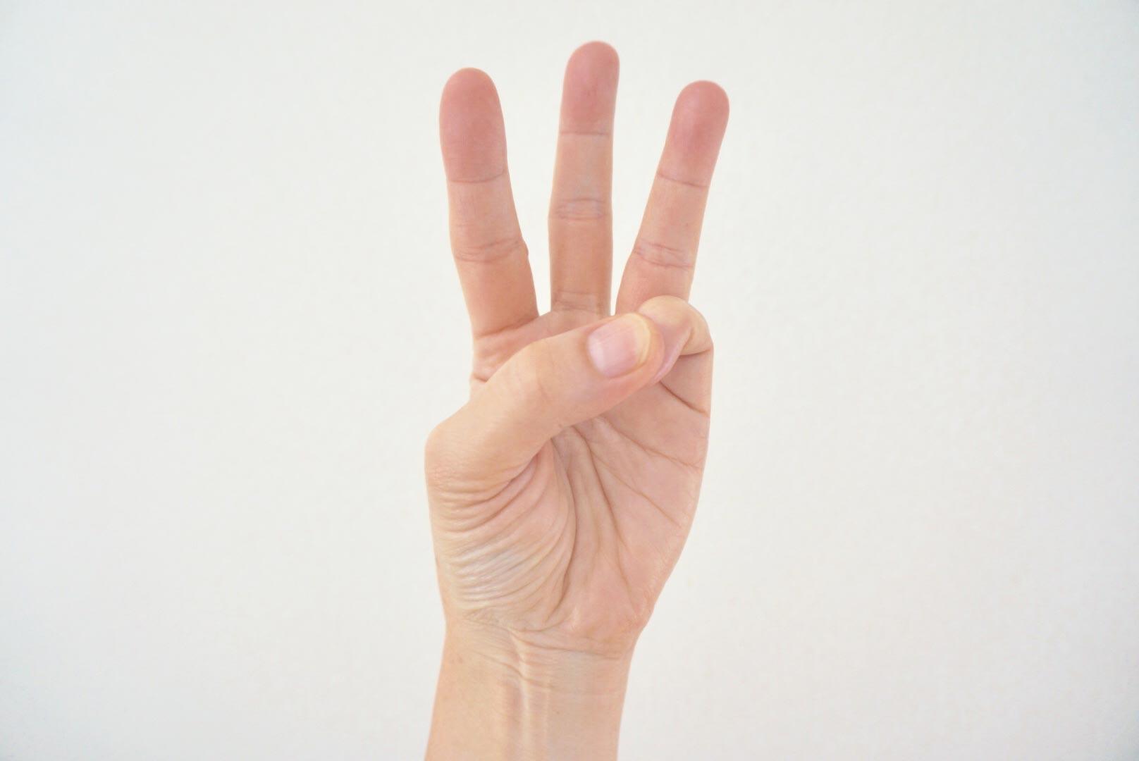 3本立てた指